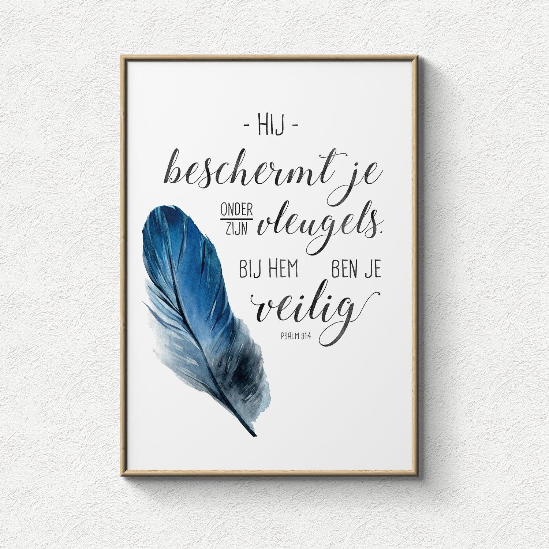 poster hij beschermt je onder zijn vleugels bij hem ben je veilig lifeprints. Black Bedroom Furniture Sets. Home Design Ideas