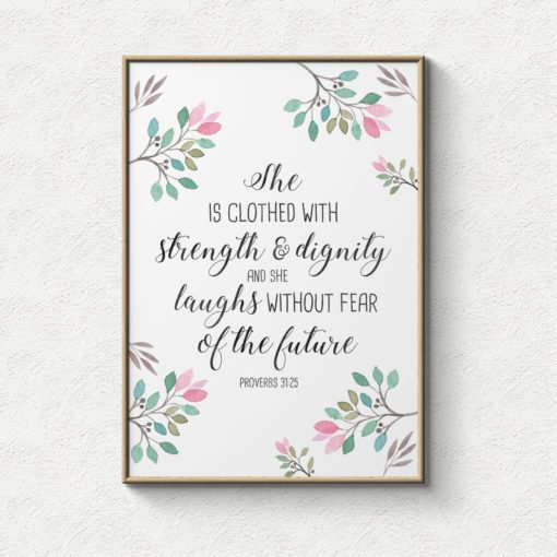Future She Laughs Without Fear Of Her: Lifeprints